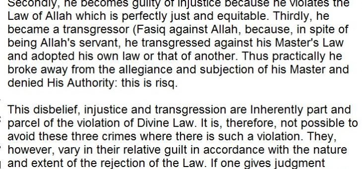 The Quran Does not allow men to make laws