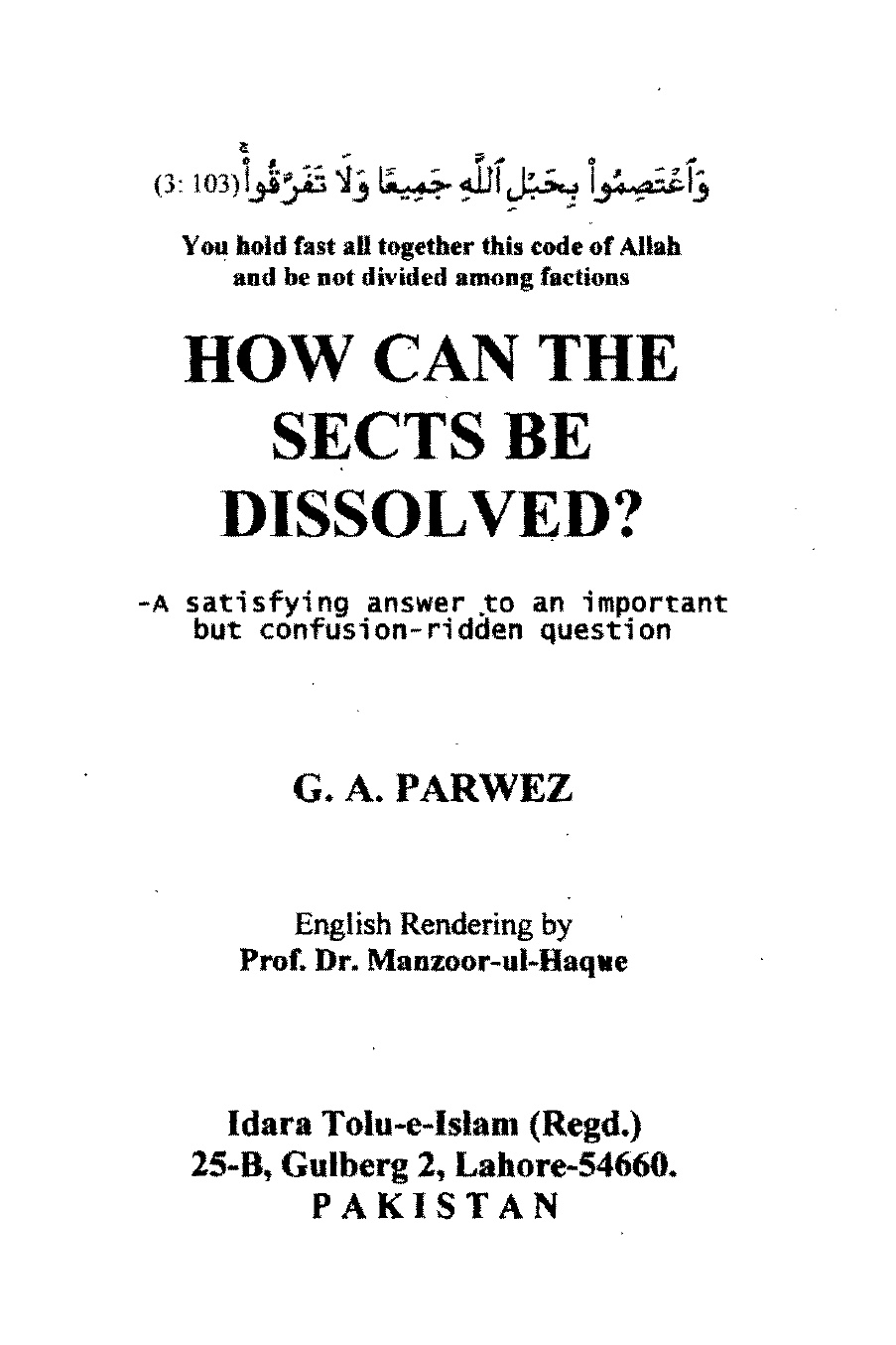 How-can-the-Sects-of-dissolved